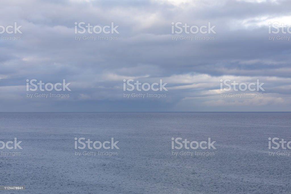 Rain over the ocean La Jolla Beach, San Diego, California stock photo
