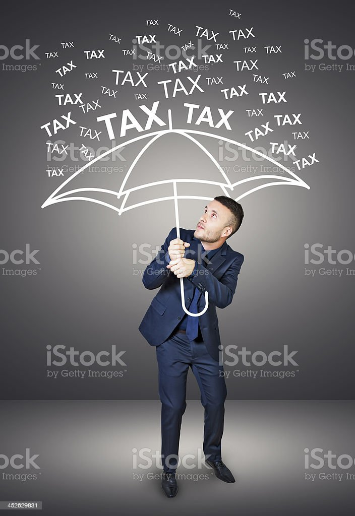 rain taxes stock photo