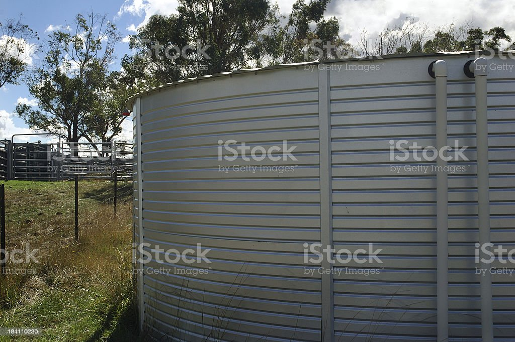 Rain Water Catching and Holding Tank royalty-free stock photo