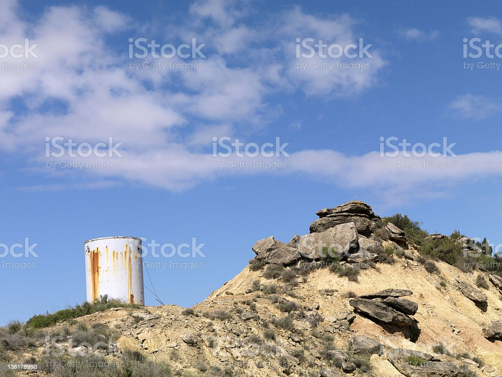 Rain Water Collector royalty-free stock photo
