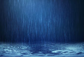 rain water drop falling to the floor in rainy season
