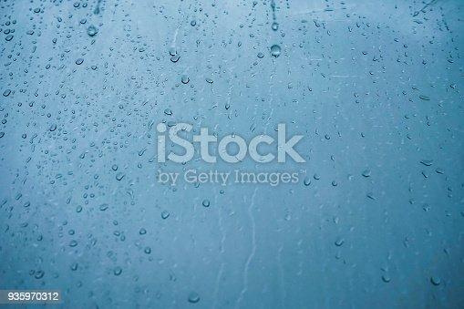 istock Rain Water on the Glass 935970312