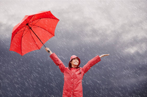 rain? who cares?! - rain stock photos and pictures