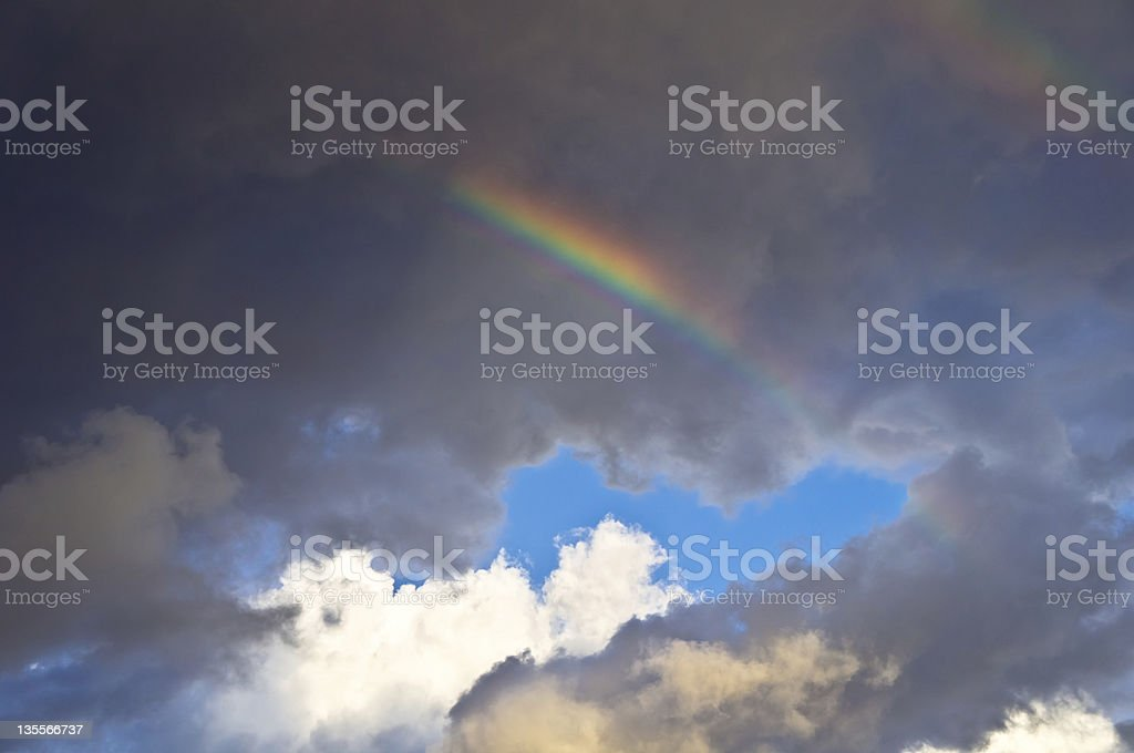 Rainbow after the storm royalty-free stock photo