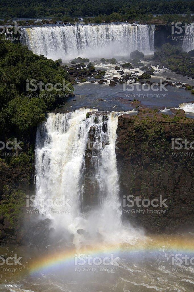 Rainbow and waterfalls royalty-free stock photo