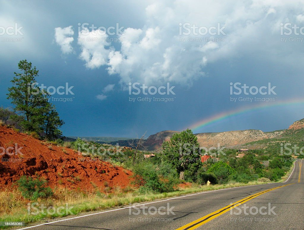 Rainbow Arizona stock photo