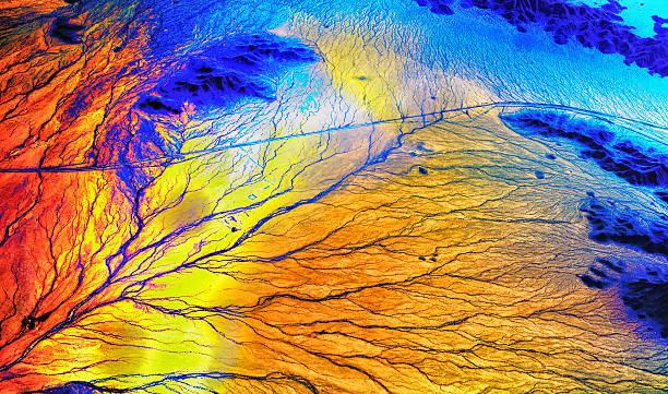 Rainbow Arizona River System Architecture stock photo