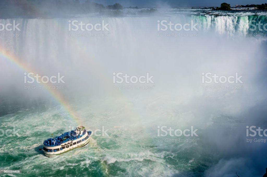 Rainbow at Niagara Falls royalty-free stock photo