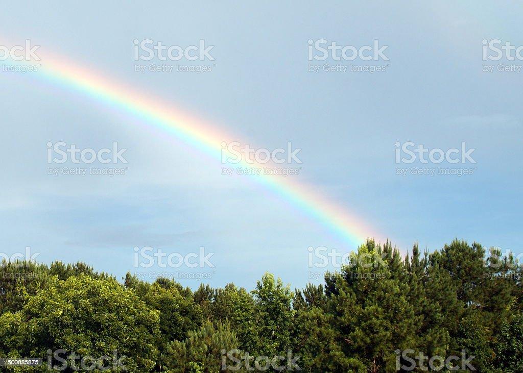 Rainbow at the Farm-3 stock photo