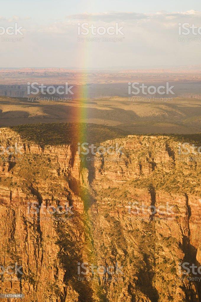 Rainbow at the grand canyon royalty-free stock photo