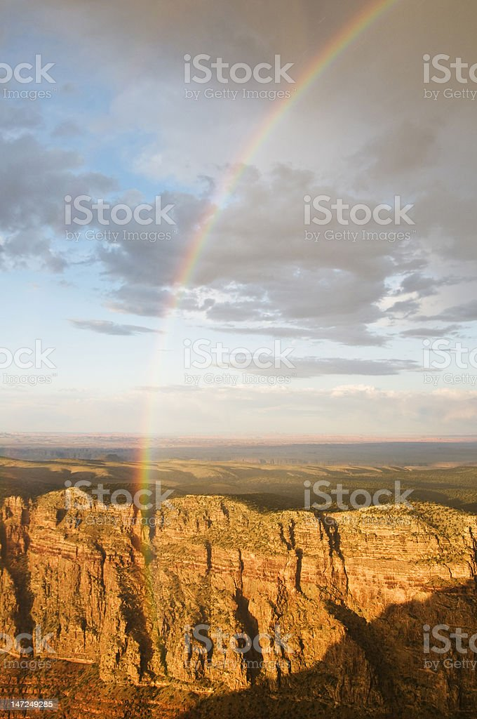 Rainbow at the grand canyon royalty-free stock photo