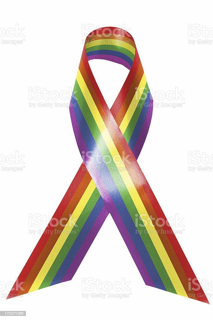 Rainbow awareness ribbon royalty-free stock photo