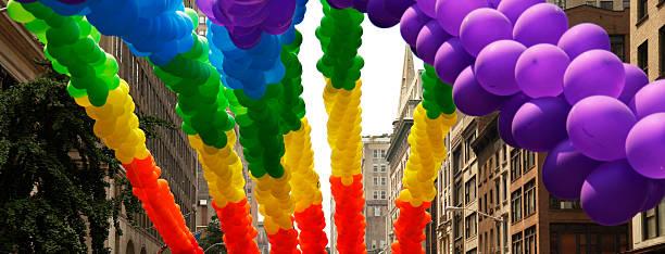 rainbow balls stock photo