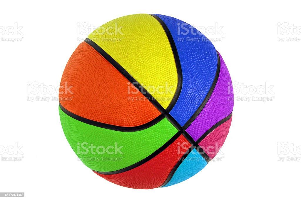 rainbow basketball royalty-free stock photo