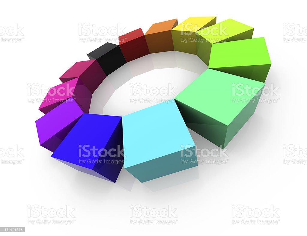 Rainbow Blocks royalty-free stock photo