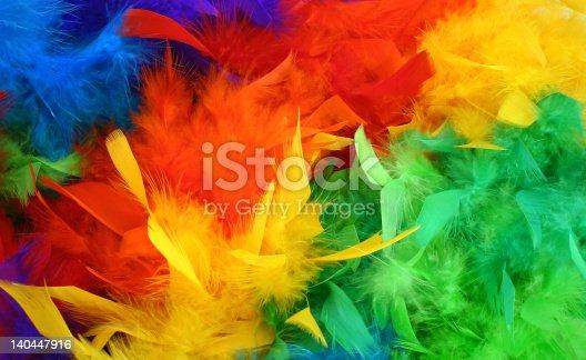 Colorful rainbow boa background.