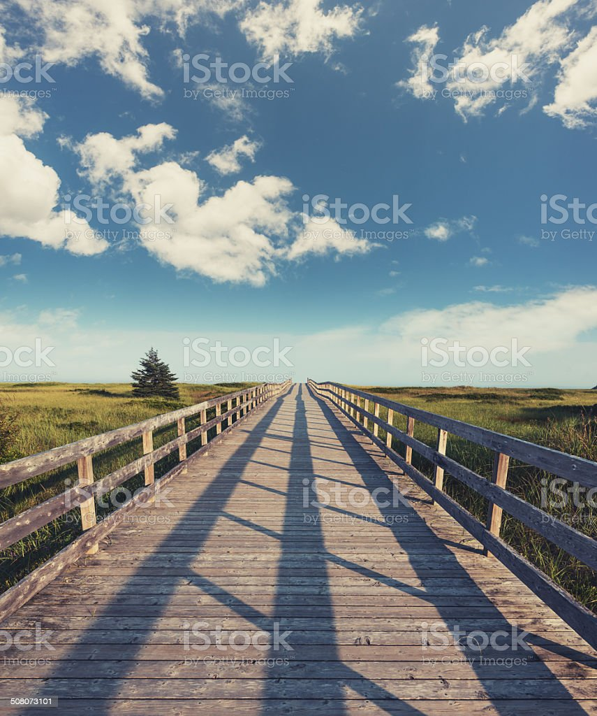 Rainbow Boardwalk stock photo