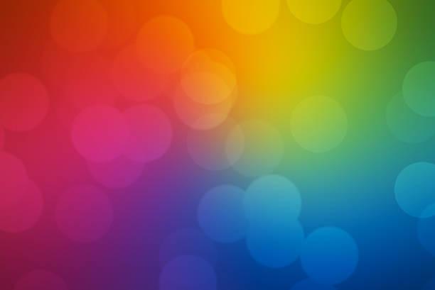 arco-íris de bokeh de fundo - colorful background - fotografias e filmes do acervo