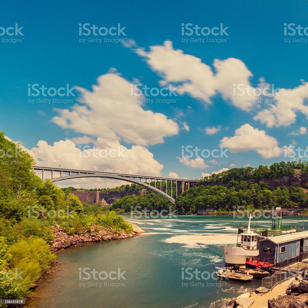 Rainbow bridge at niagara falls  Bridge - Built Structure Stock Photo