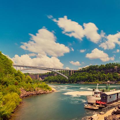 Rainbow Bridge At Niagara Falls Stock Photo - Download Image Now