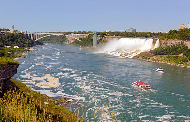 Rainbow Bridge, Canada Rainbow Bridge, Canada rainbow bridge ontario stock pictures, royalty-free photos & images