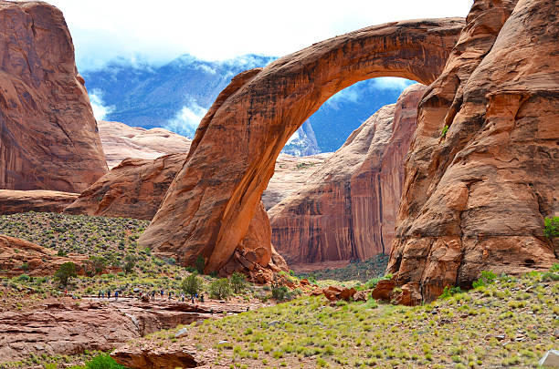 Rainbow Bridge in Page Arizona, USA stock photo