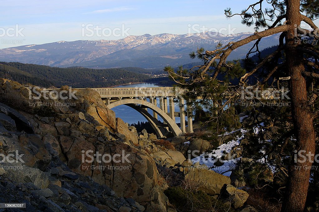 Rainbow Bridge in Sunset light royalty-free stock photo