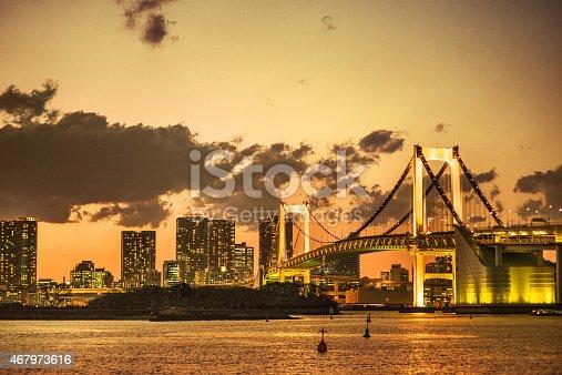 928415496 istock photo Rainbow bridge in Tokyo - Japan 467973616
