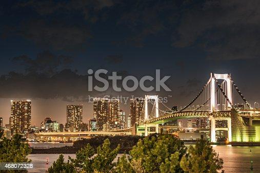 928415496 istock photo Rainbow bridge in Tokyo - Japan 468072328