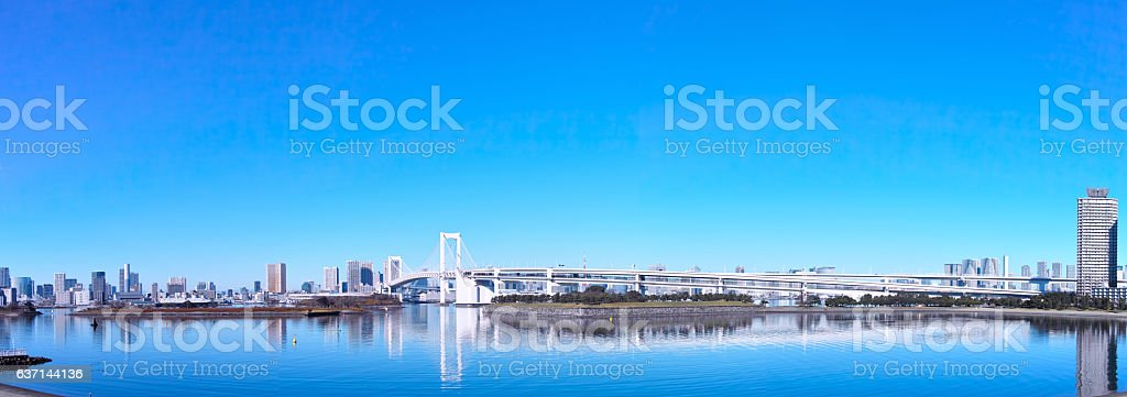Rainbow Bridge Panorama stock photo