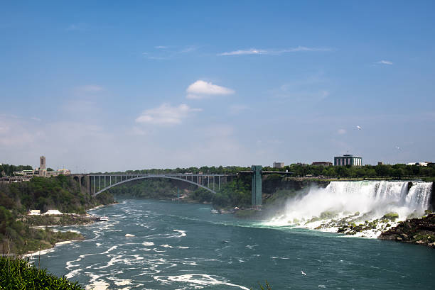 Rainbow Bridge Rianbow bridge across US-Canada border rainbow bridge ontario stock pictures, royalty-free photos & images