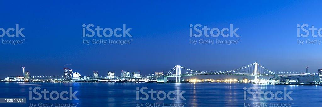 Rainbow Bridge Tokyo Japan stock photo