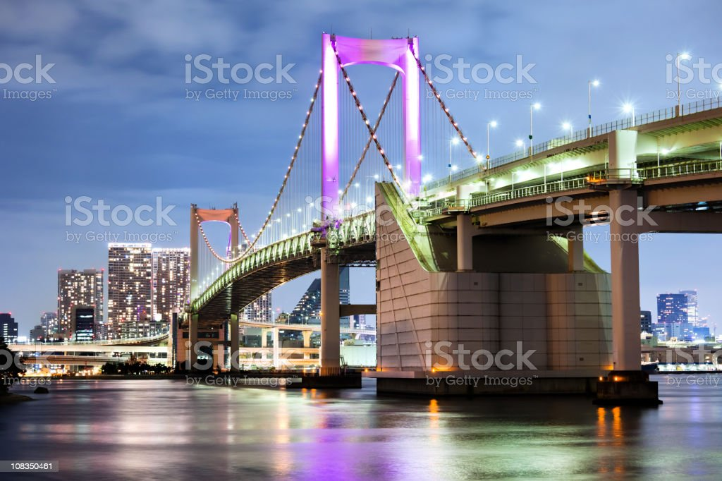 Rainbow Bridge, Tokyo royalty-free stock photo