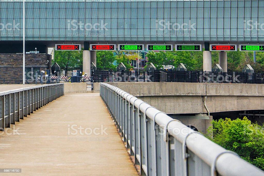Rainbow Bridge US Toll Plaza stock photo
