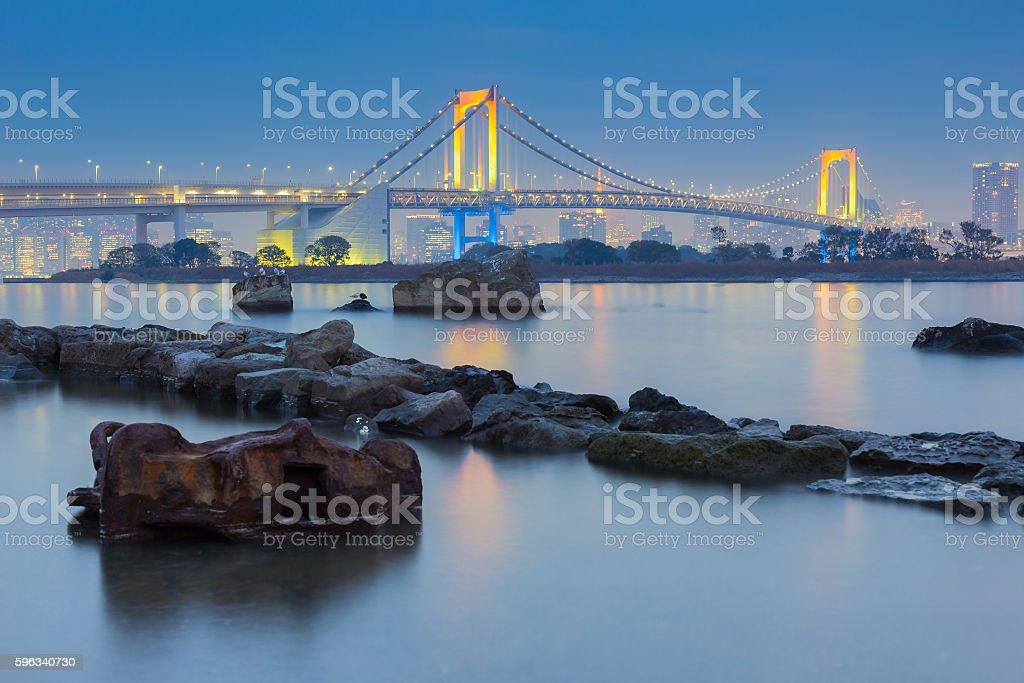 Rainbow bridge waterfront, Odiaba Japan Lizenzfreies stock-foto