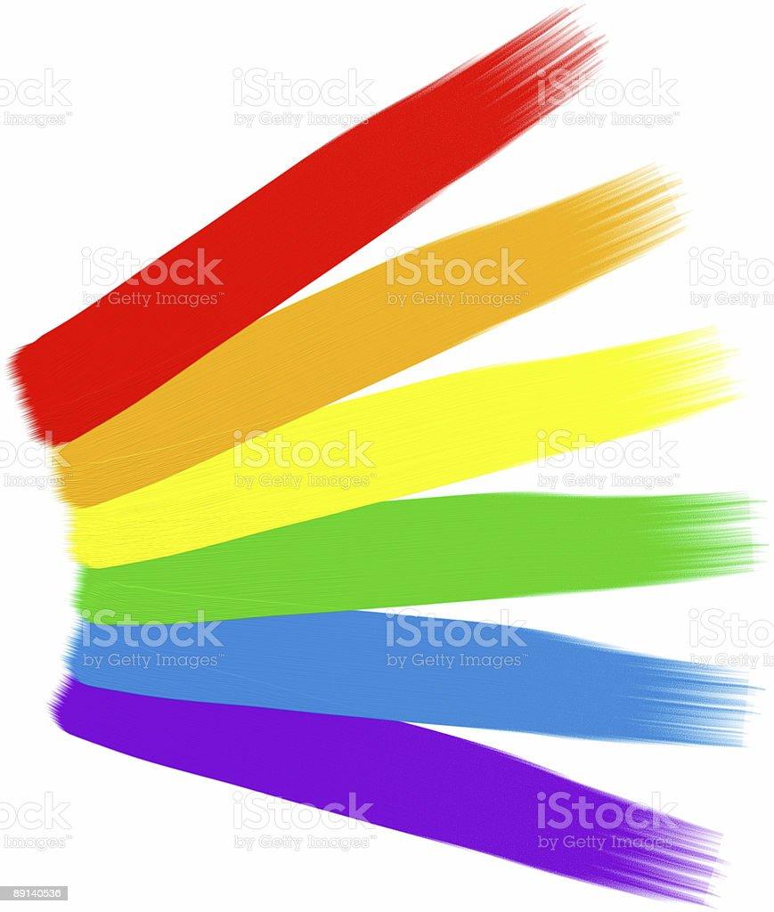 Rainbow Brush Strokes royalty-free stock photo