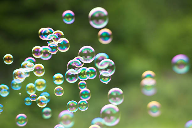 Rainbow  Bubble stock photo