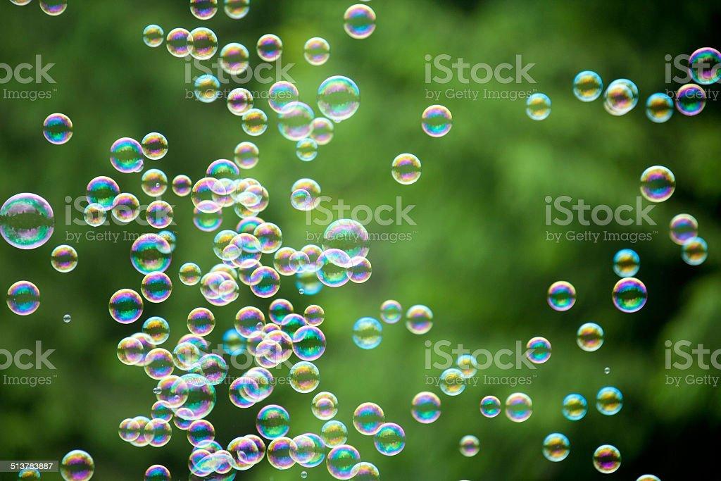 Rainbow  Bubble stock photo