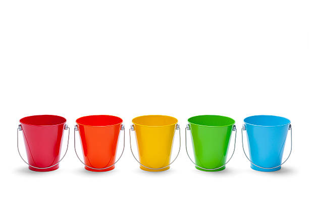 Rainbow Buckets stock photo