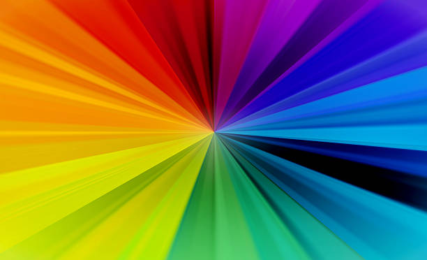 rainbow burst abstract background - 光譜 個照片及圖片檔