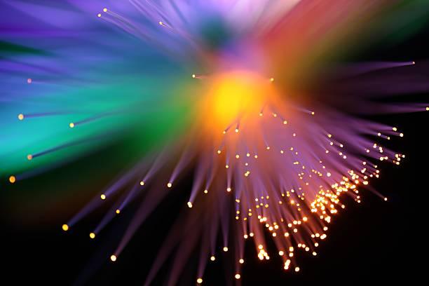 Rainbow Burst Lights stock photo