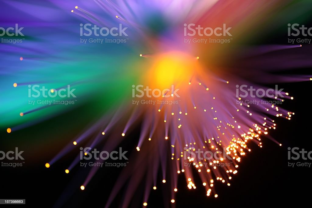 Rainbow Burst Lights stock photo