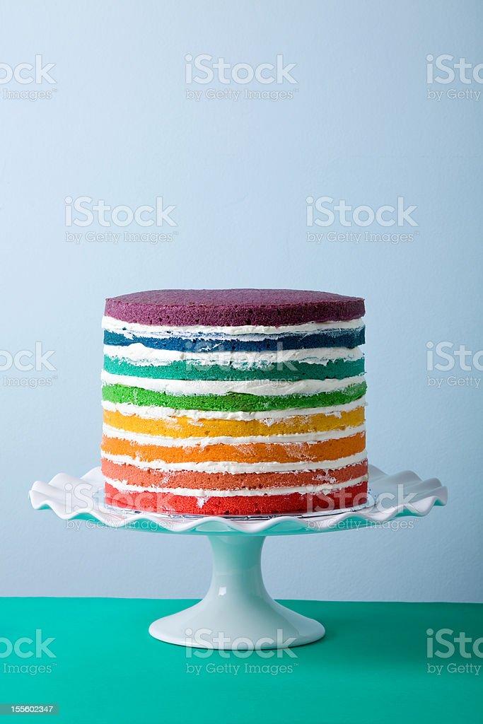 Rainbow Cake stock photo
