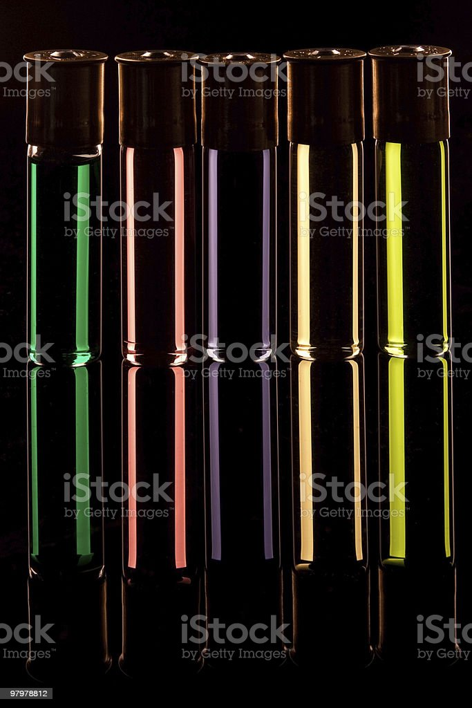 Rainbow Cartridge Shots royalty-free stock photo