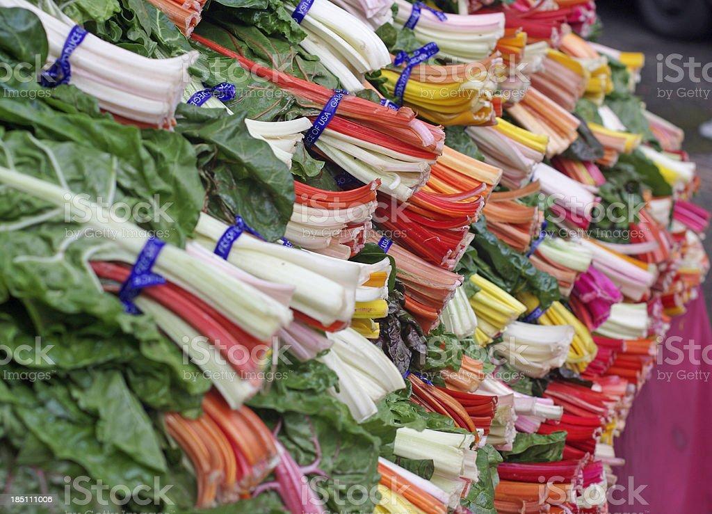 Rainbow chard royalty-free stock photo
