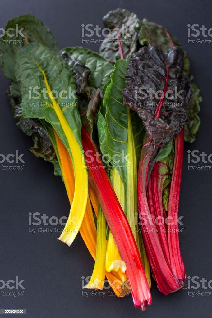rainbow acelga - foto de stock