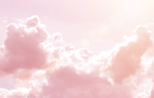 Rainbow Clouds. Background. sun and cloud background with a pastel colored