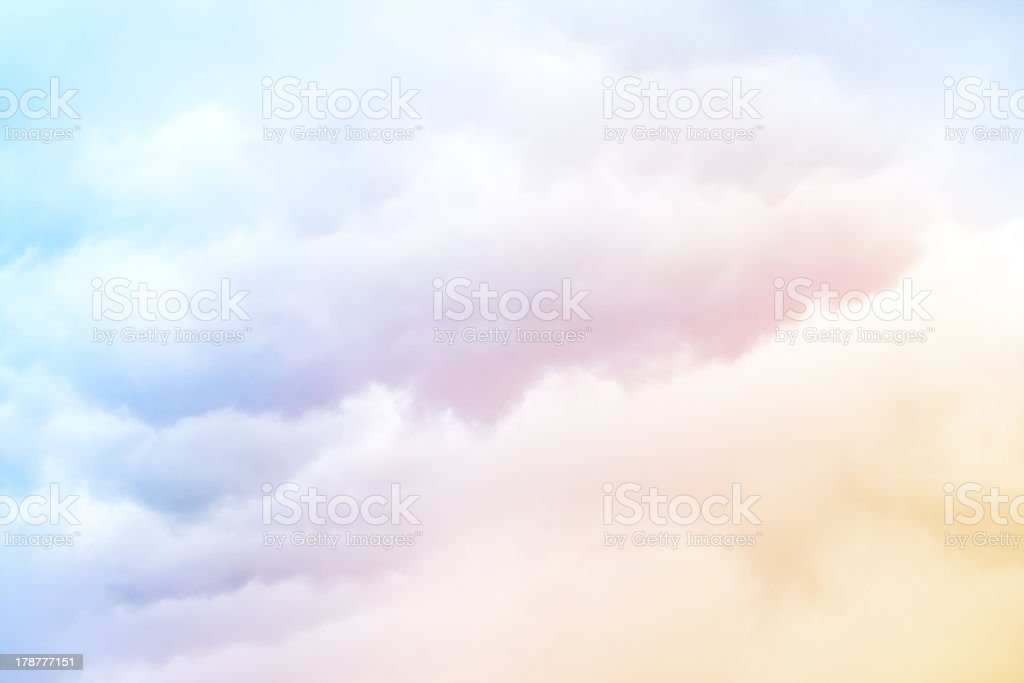 Rainbow Clouds stock photo