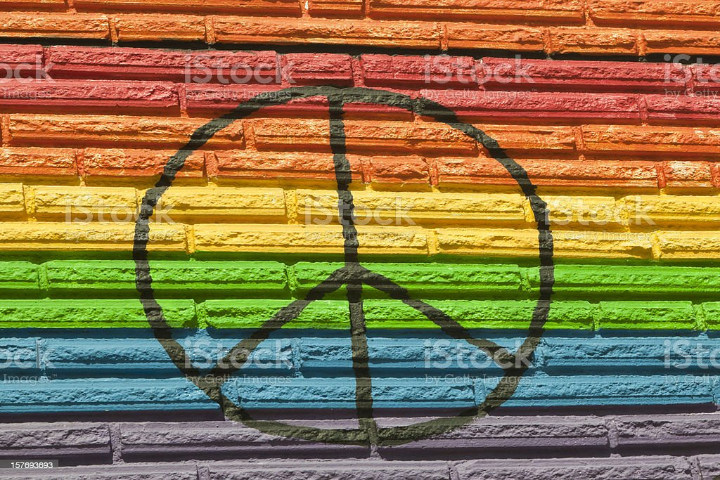 Rainbow Color, Equality for All, Peace Symbol stock photo