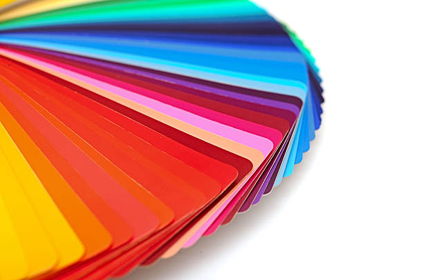 Rainbow color palette isolated on white stock photo